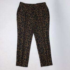 CHICOS Black Gold Animal Print Pants Size 1 Small